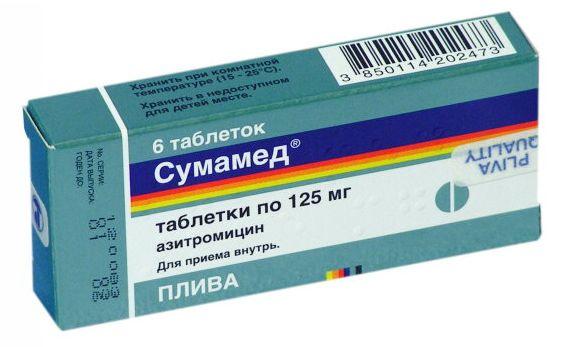 Использование сумамеда при лечении ангины