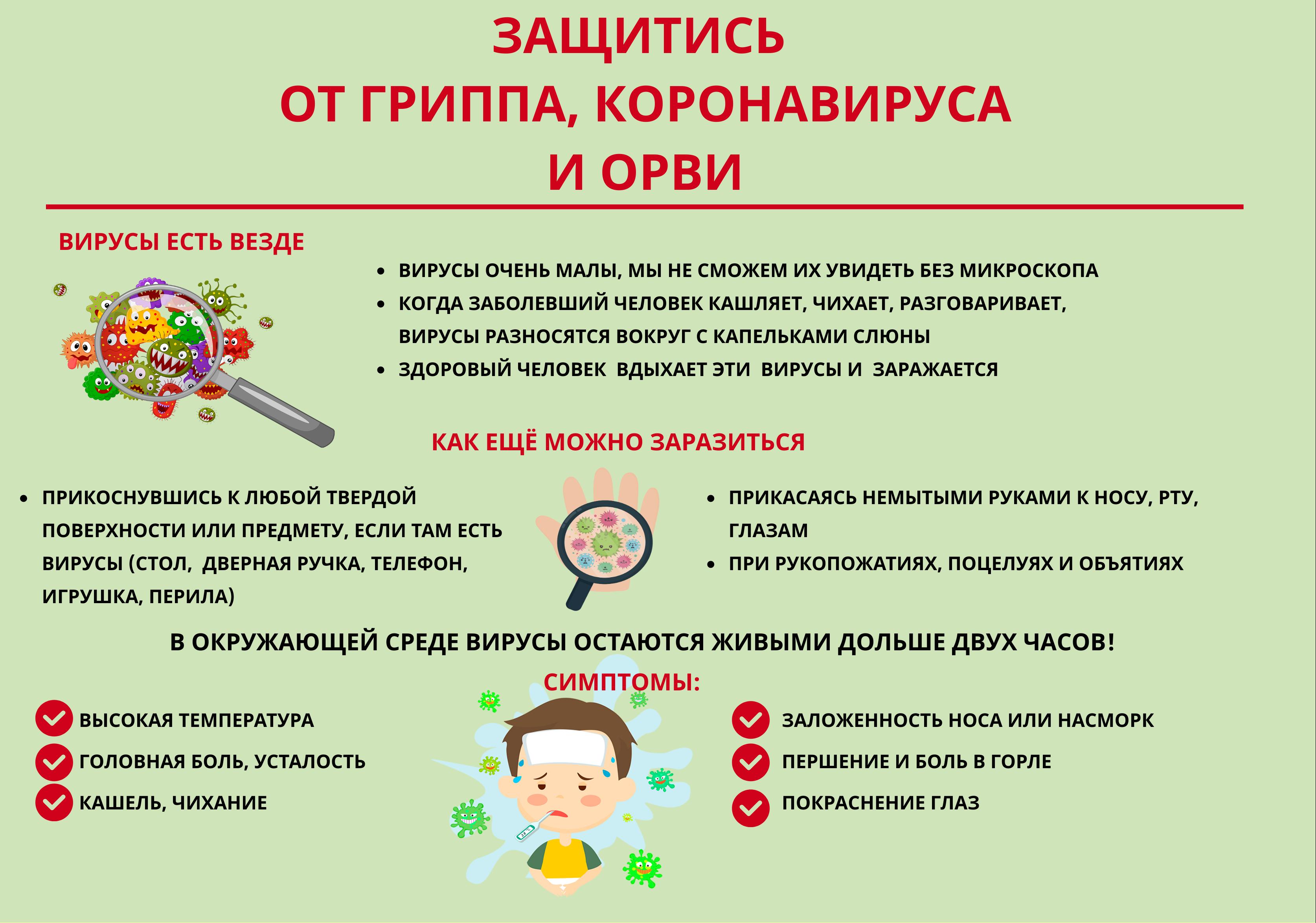 Грипп, орз: причины, симптомы, лечение, профилактика орви
