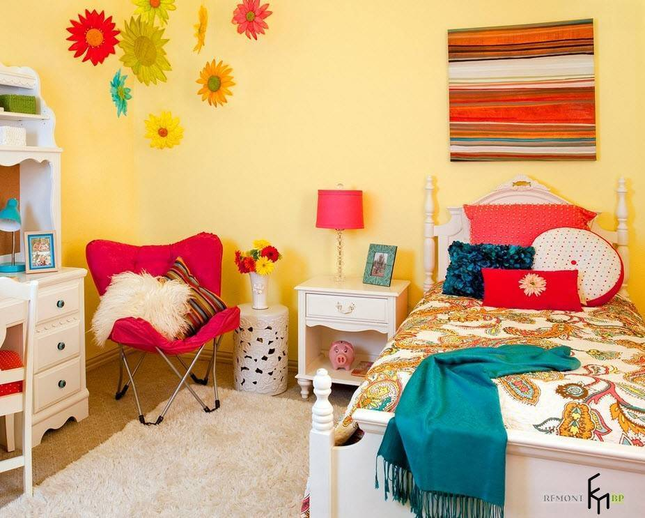 Сочетание цветов в детской - 45 фото идеального дизайна