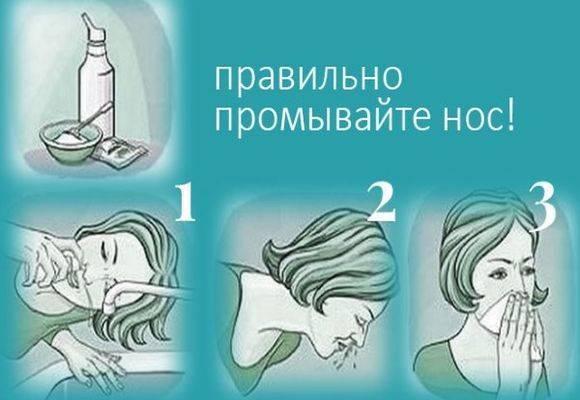 Раствор для промывания носа дома. как правильно промывать нос в домашних условиях