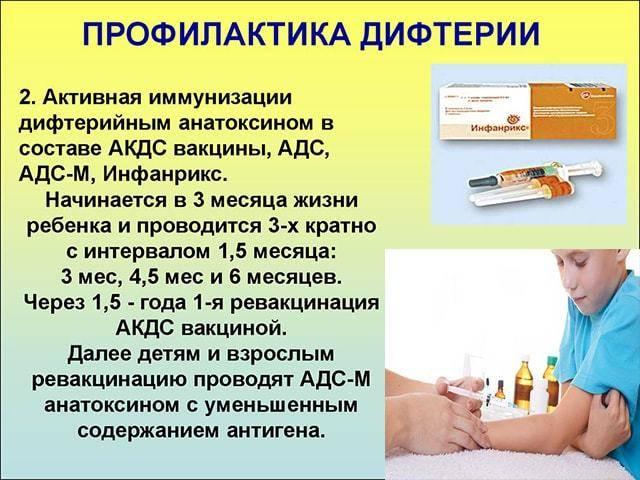 Дифтерия у детей: симптомы, лечение и профилактика