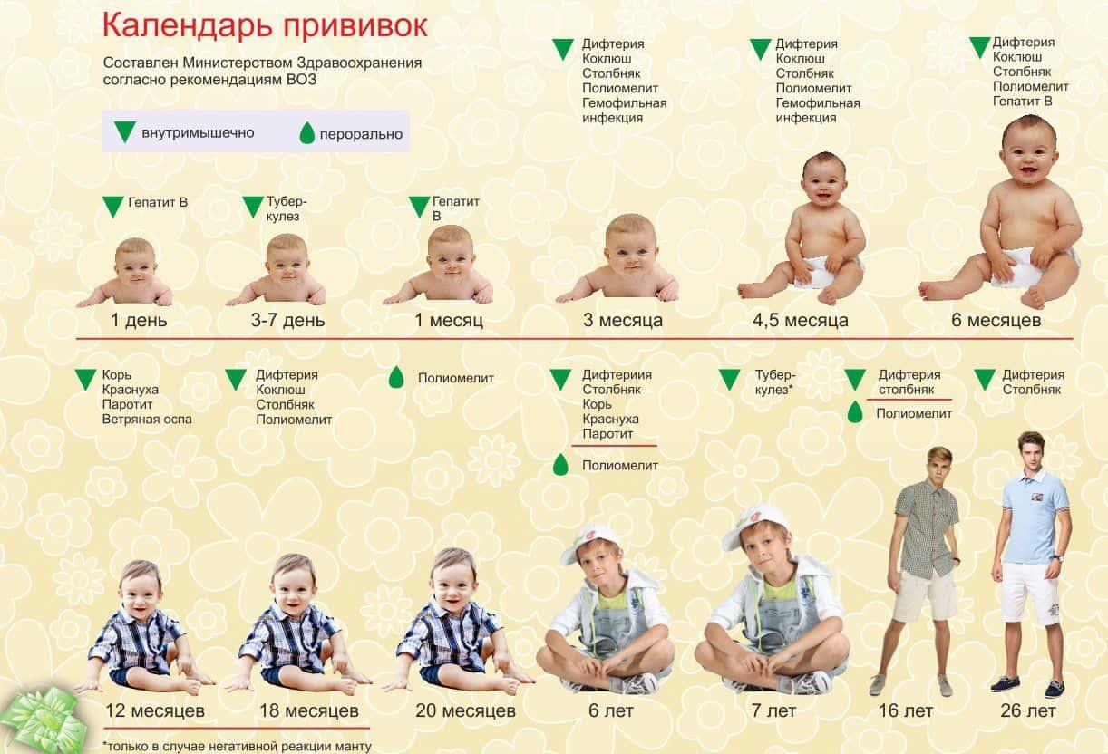 Прививка от гепатита в детям: график и схема вакцинации