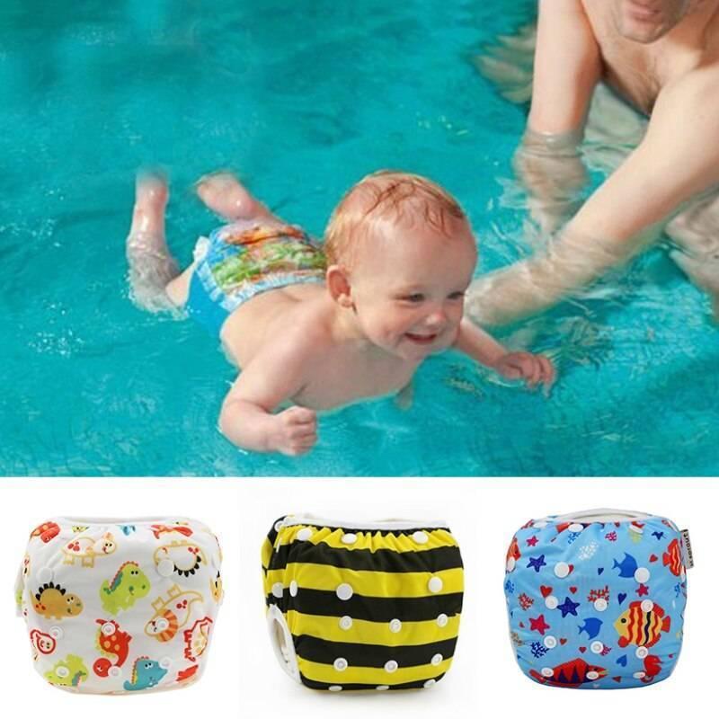 Обзор детских подгузников для плавания в бассейне, выбор размера
