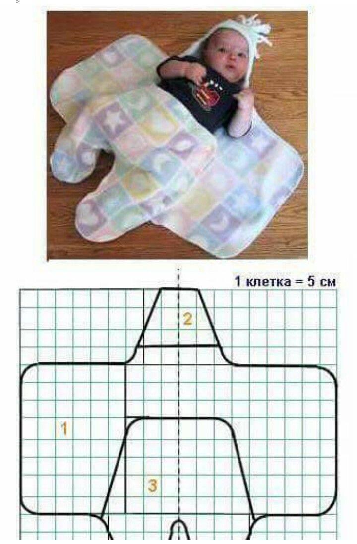 Выкройка конверта для новорожденного с капюшоном своими руками с видео