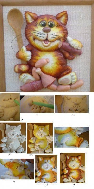 Поделки из солёного теста для начинающих поэтапно с фото