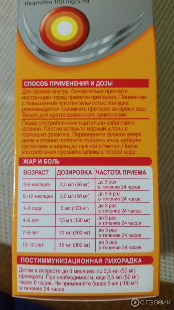 Нурофен сироп для детей — инструкция по применению, побочные эффекты и отзывы