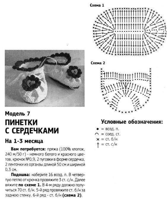 Пинетки крючком – инструкция по вязанию для начинающих и обзор лучших моделей пинеток (130 фото)