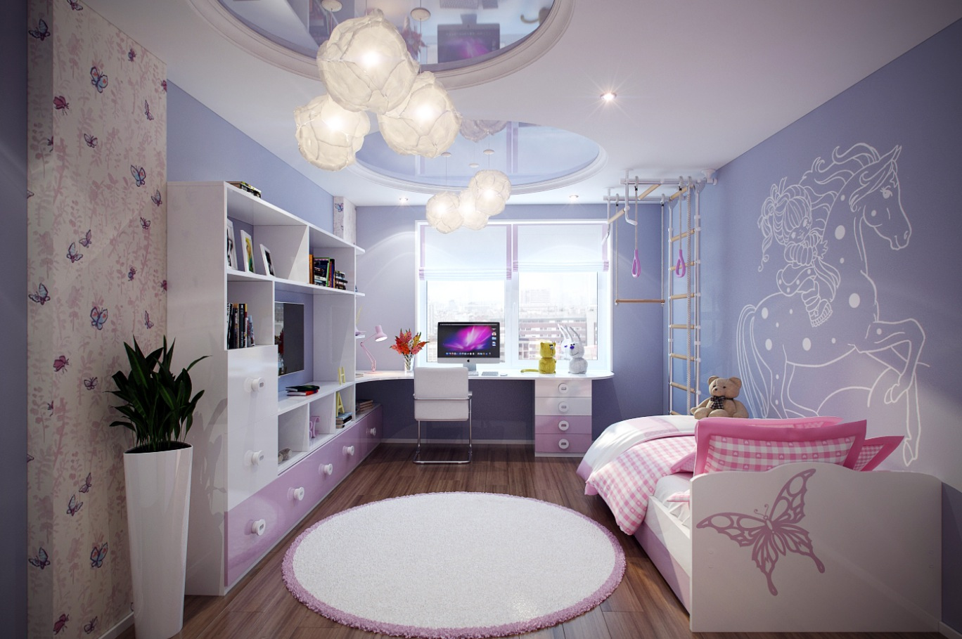 Детские обои для стен: однотонные, модные и другие варианты в интерьер комнаты