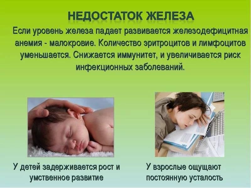 Железодефицитная анемия у детей раннего возраста, симптомы, лечение, как распознать