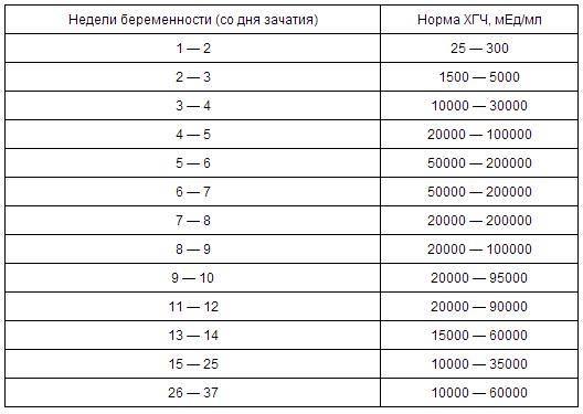 Уровень хгч по дням от зачатия: таблица по неделям беременности от зачатия – нормы, через сколько после зачатия можно делать тест на хгч