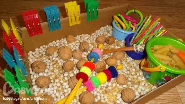 Обзор игр с крупами и макаронами для детей разного возраста: мастер-класс по развитию мелкой моторики. мы играем с крупой