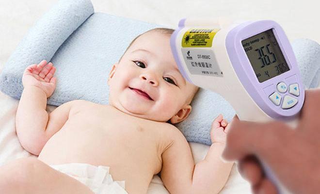 Как мерить температуру у новорожденного грудничка термометром