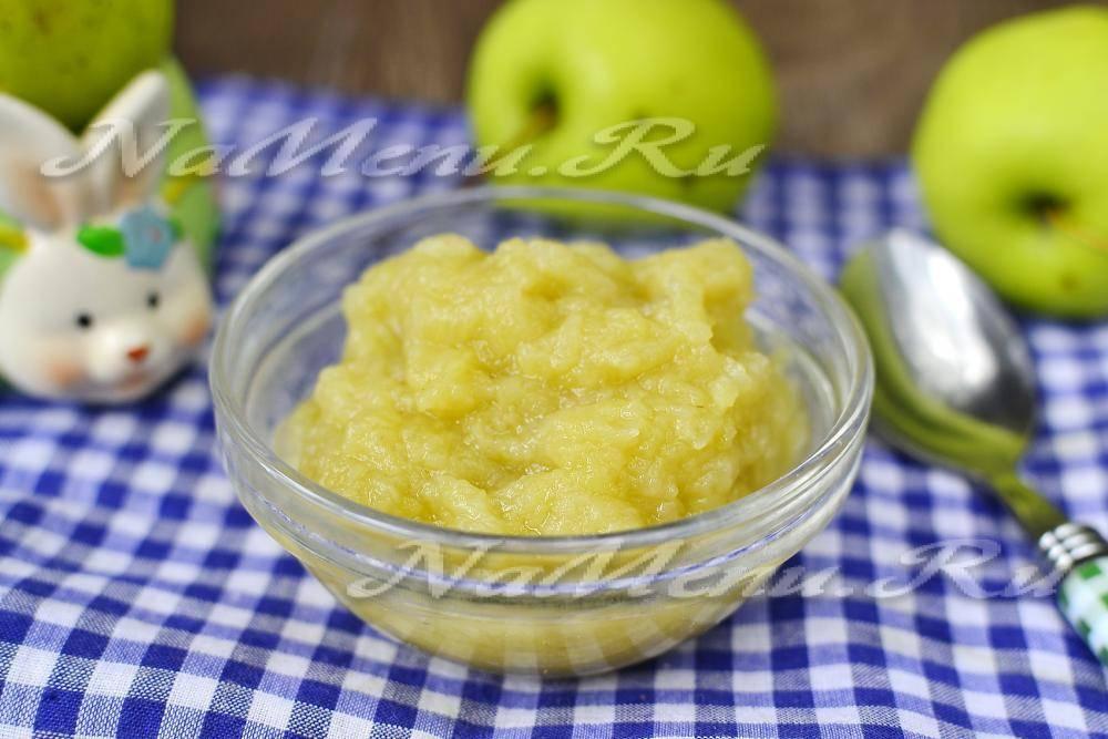 Натуральное яблочное пюре – кулинарный рецепт