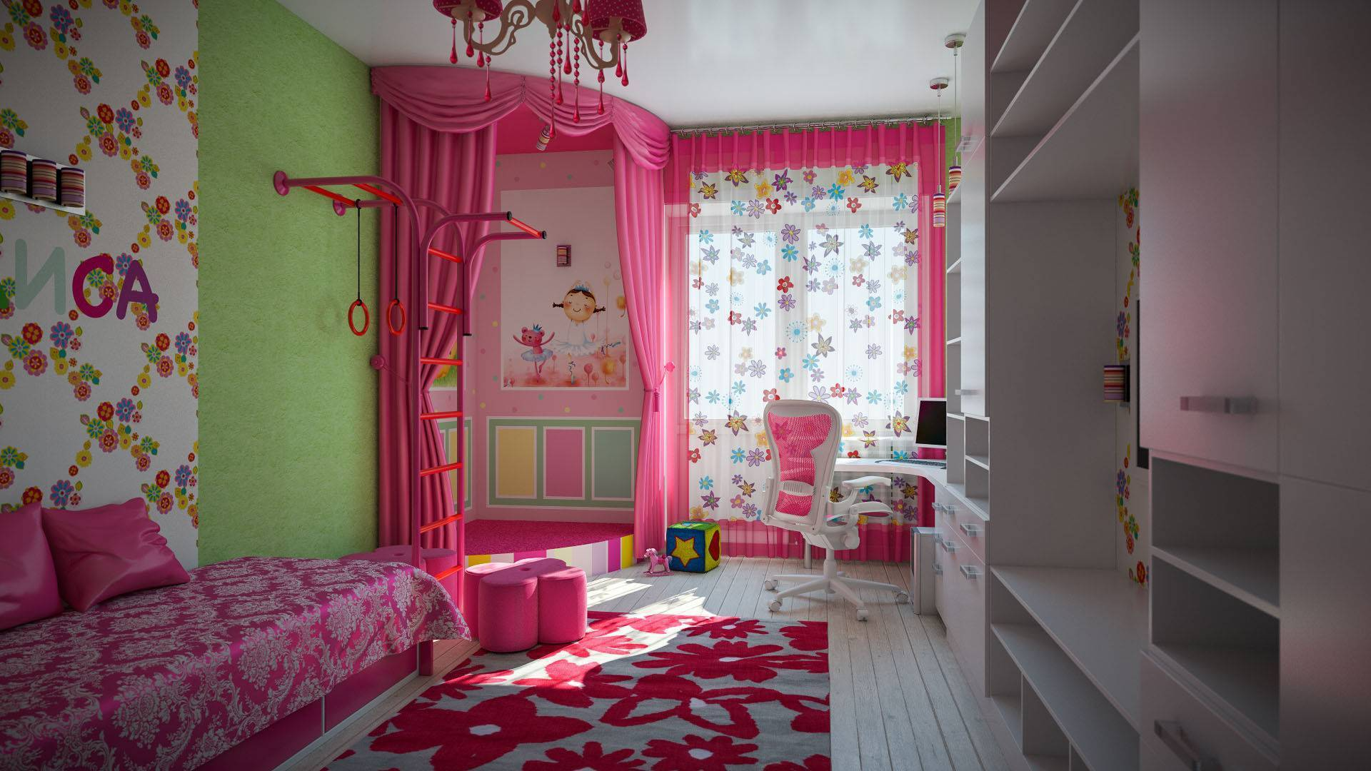 Обои для детской комнаты комбинированные, рекомендации