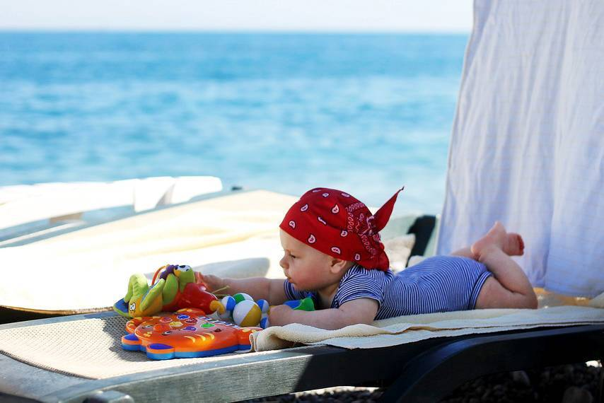 Можно ли годовалому ребенку на море