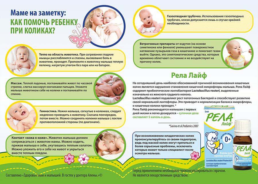 Болит живот у новорожденного грудного ребенка