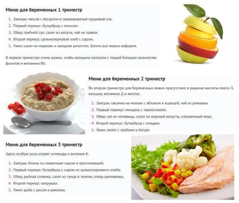 Питание беременной во втором триместре: основные принципы правильной диеты при беременности и примерное меню