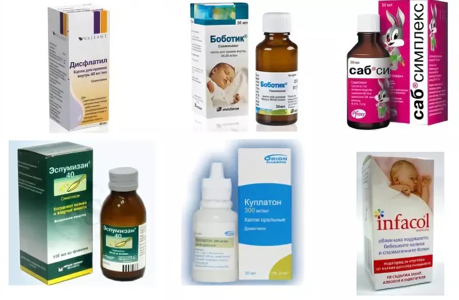 Средства от колик у новорожденных - список популярных препаратов