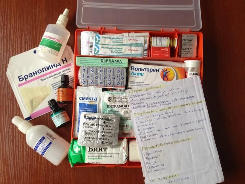 Аптечка для ребенка в поездке на море