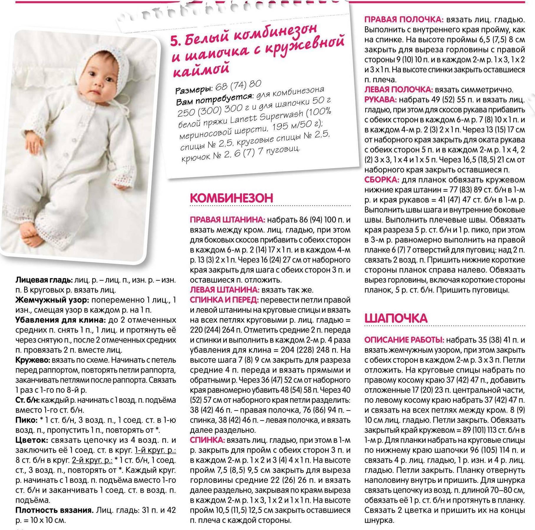 Комбинезоны для новорожденных малышей вязаные спицами