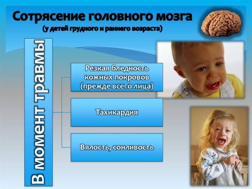 Сотрясение мозга у ребенка: симптомы и лечение (в том числе в домашних условиях), последствия травмы и другие аспекты