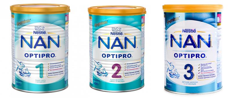 Смесь нан для новорожденных — состав детского питания, виды (таблица)