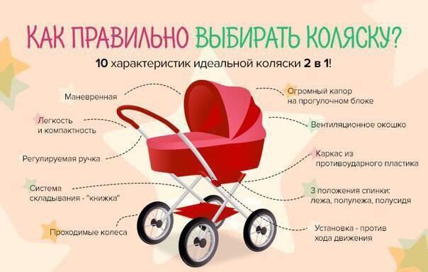 Как выбрать коляску для новорожденного ребенка: виды детских колясок, колеса, габариты