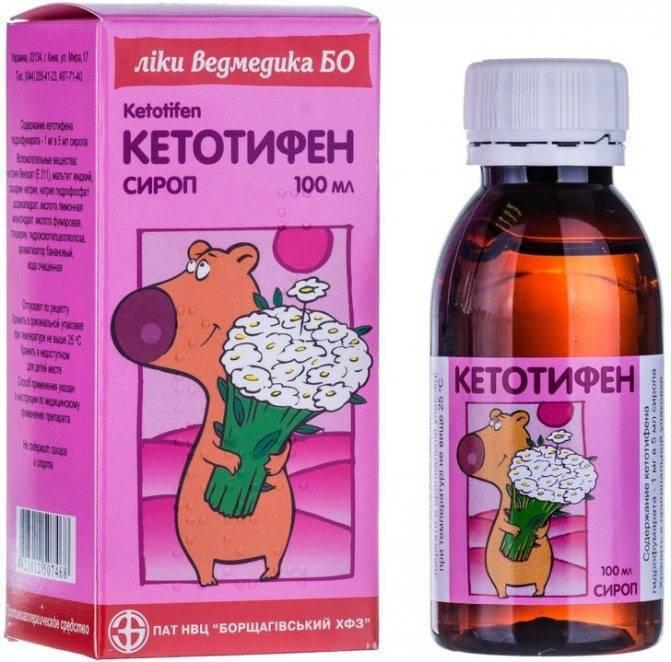 Кетотифен: показания, состав и форма выпуска