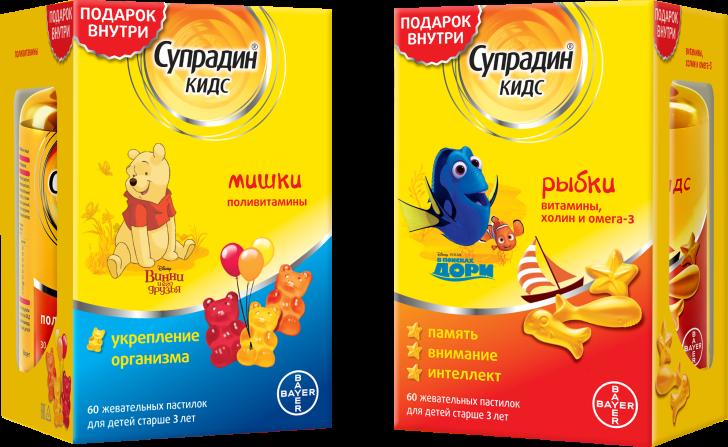 Супрадин кидс (мишки \ рыбки) – инструкция к препарату, цена, аналоги и отзывы о применении