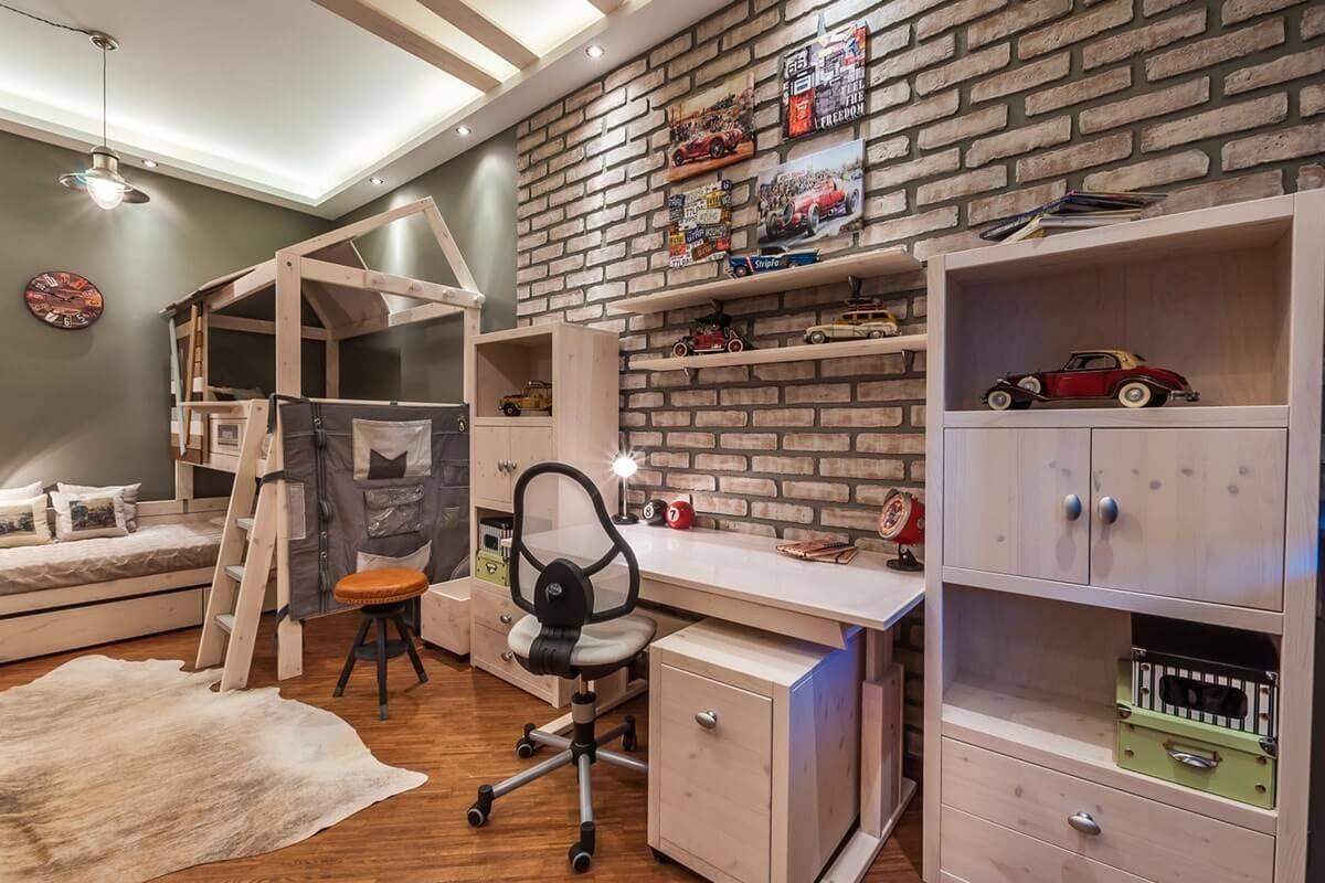 Варианты оформления дизайна детской комнаты в стиле лофт