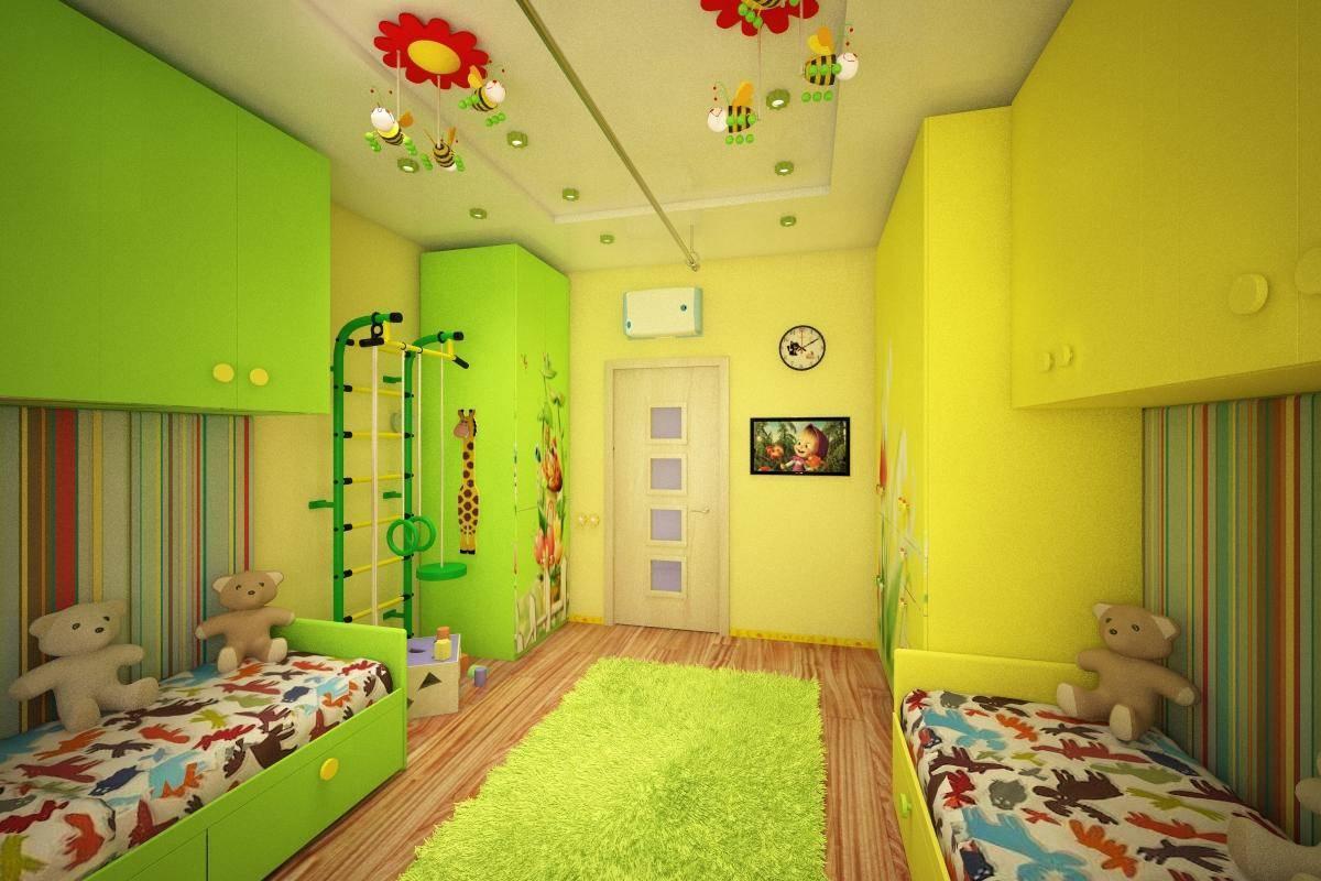 Детская 12 кв. м: 4 фото-тура по реальным комнатам мальчиков и девочек