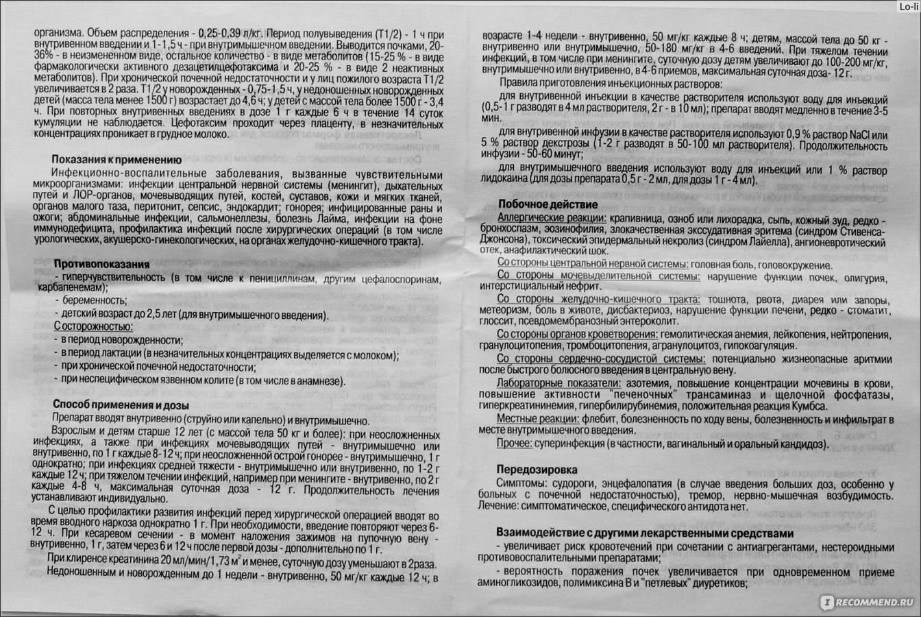 Цефтриаксон — инструкция по применению, описание, вопросы по препарату