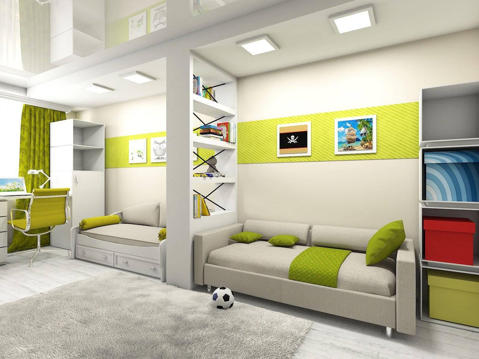 Дизайн комнаты для двух подростков (мальчиков, девочек или разнополых детей) в современном стиле