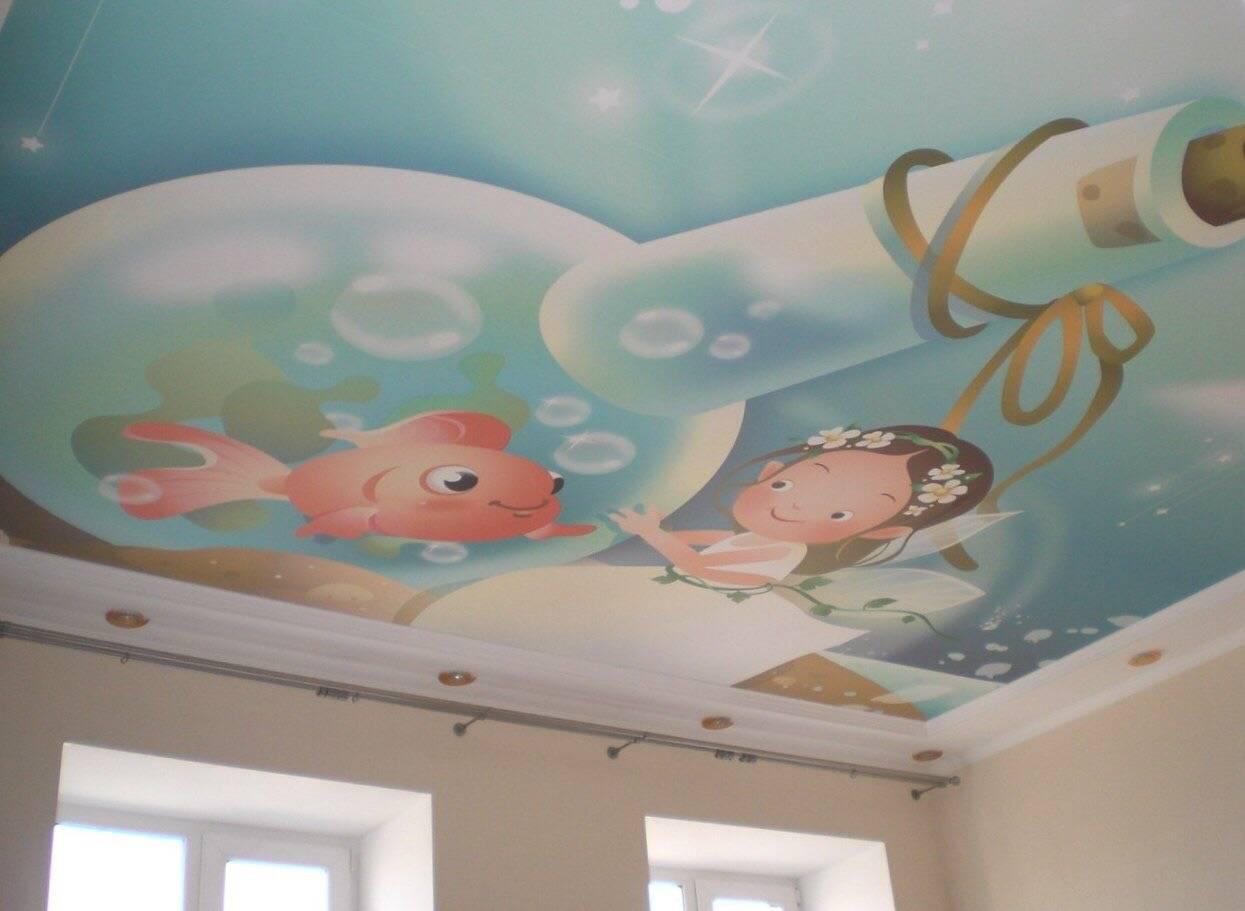 Потолок в детской комнате: натяжной, из гипсокартона, двухуровневый, с фотопечатью и другие   детская   vpolozhenii.com