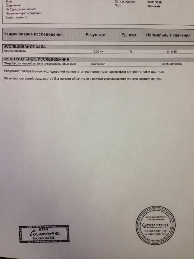 Анализ кала на углеводы у грудничков: расшифровка пробы бенедикта, правила сбора материала
