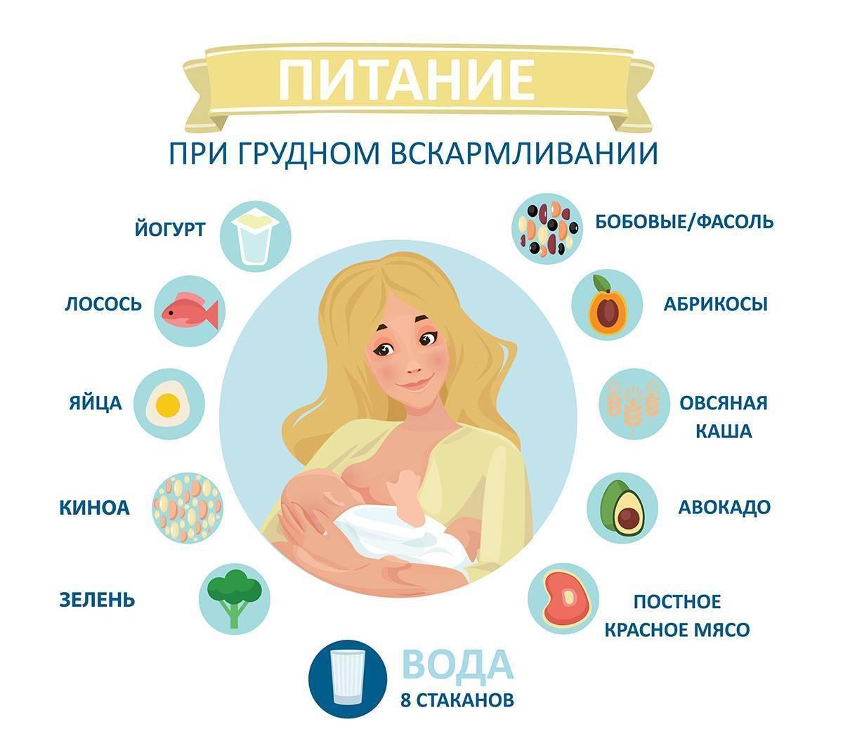 Список разрешенных и запрещенных продуктов при грудном вскармливании
