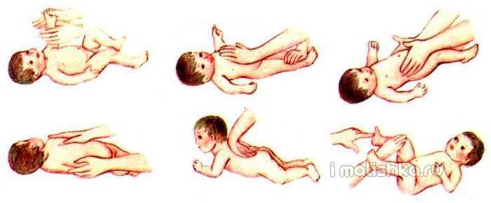 Массаж и гимнастика для грудничка 3-5 месяцев в домашних условиях, видео урок