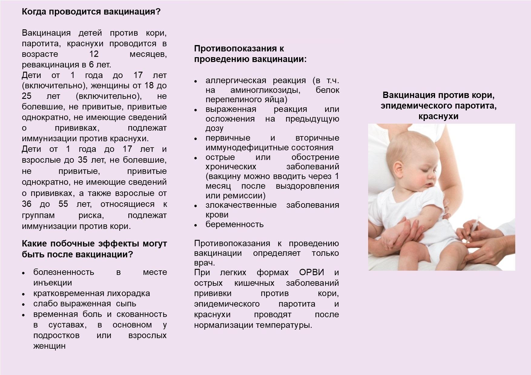 Прививка от кори детям: последствия, реакции, побочные действия и осложнения