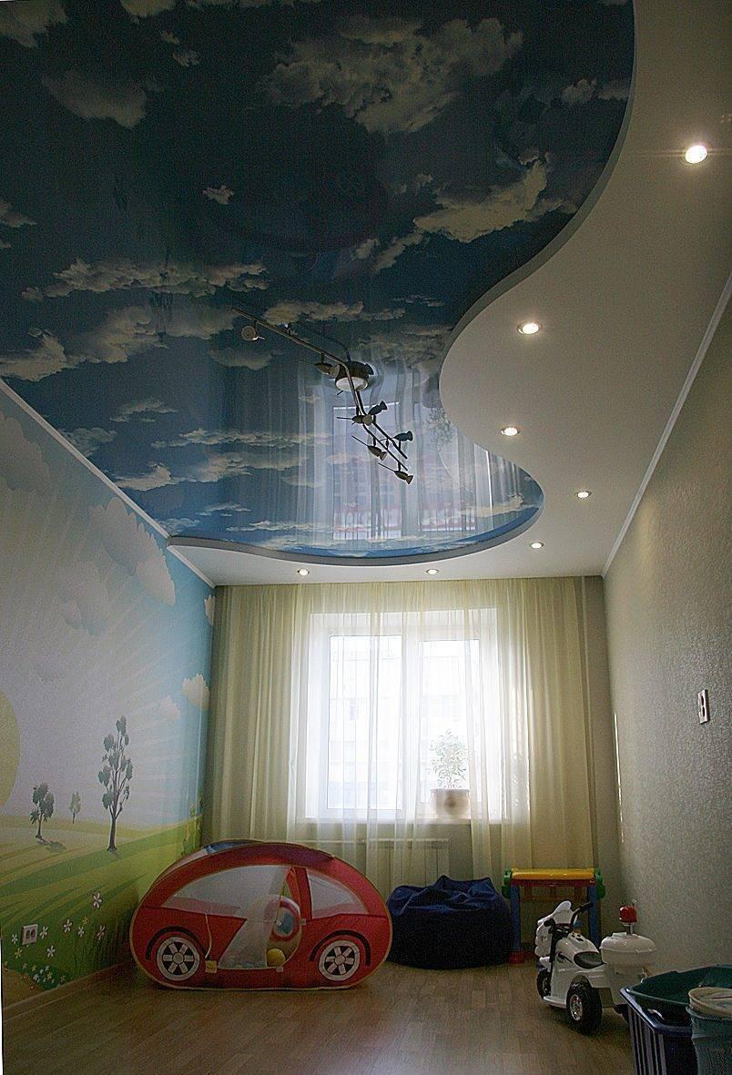 Потолок в детской - какой потолок сделать?