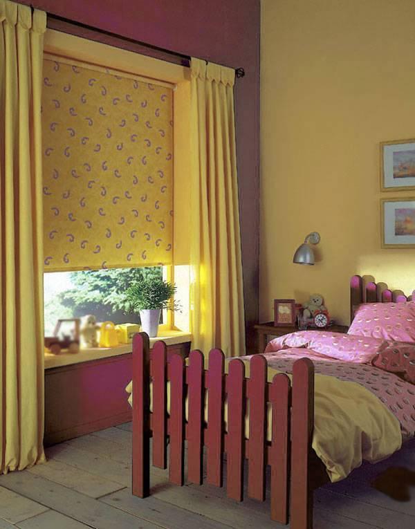 Какие выбрать шторы для детской для мальчика и фото проектов детских для девочек