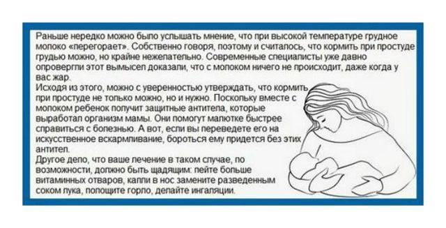 Применение парацетамола при грудном вскармливании