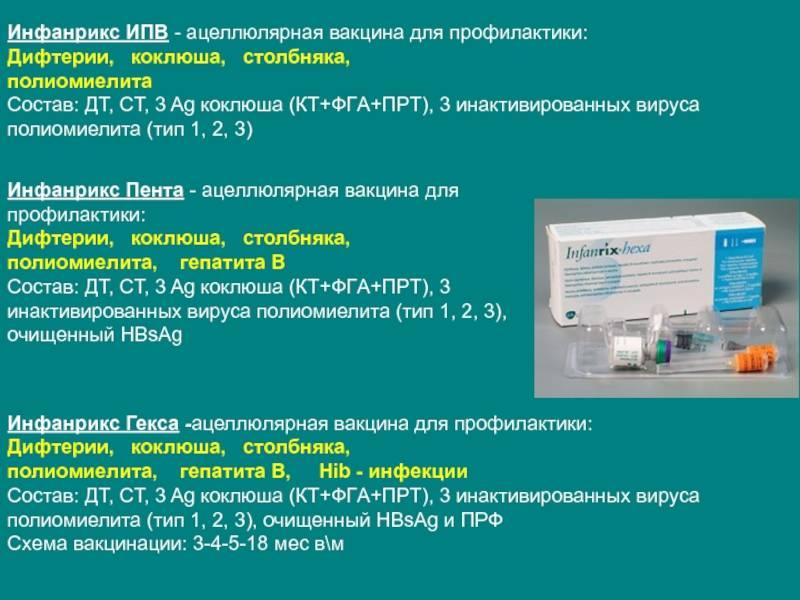 Инфанрикс гекса: состав, показания, график вакцинации