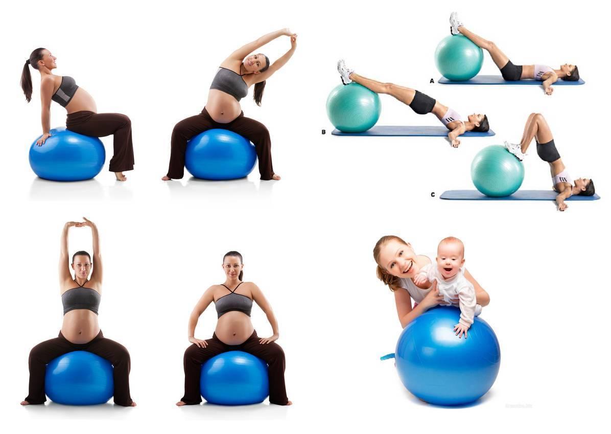 Упражнения на фитболе для грудничков (9 основных упражнений)