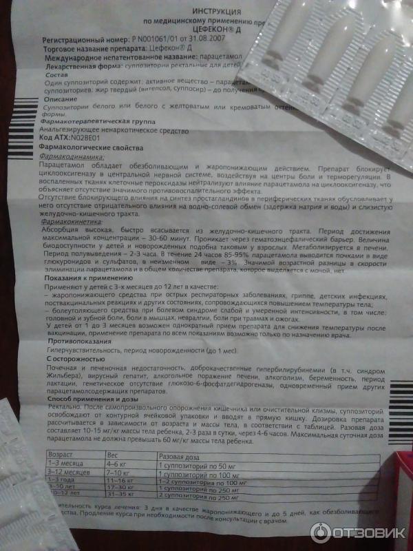 Цефекон свечи для детей через сколько действует - инструкция по применению для детей, цена, отзывы, дозировка stomatvrn.ru