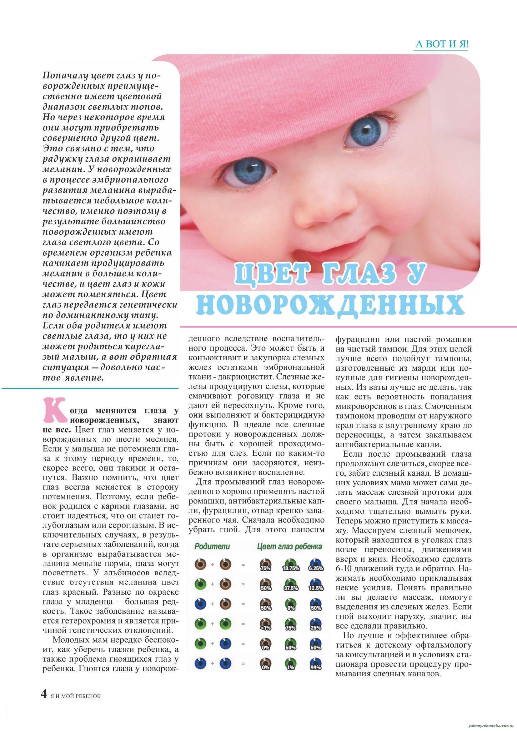 Цвет глаз у новорожденного: от чего зависит и как изменяется
