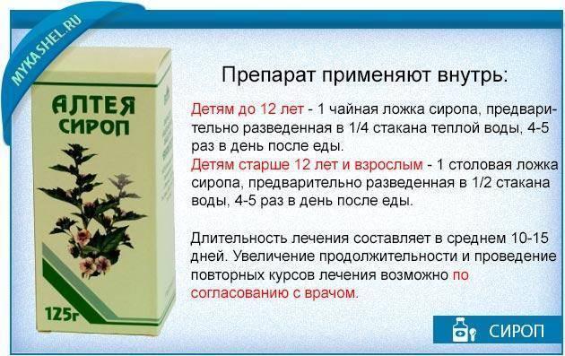 Сироп алтея от кашля для детей: инструкция по применению, отзывы