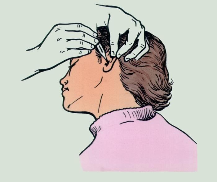Алгоритм закапывания капель в глаза, нос, ухо маленькому ребенку.