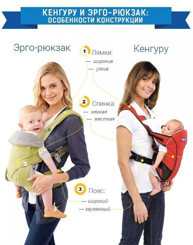 Кенгуру для новорожденных - переноска для детей: со скольки месяцев использовать, правила выбора