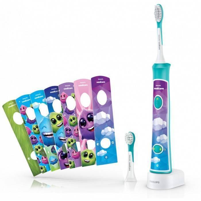 Детская электрическая зубная щетка от 3 лет - стоматолог