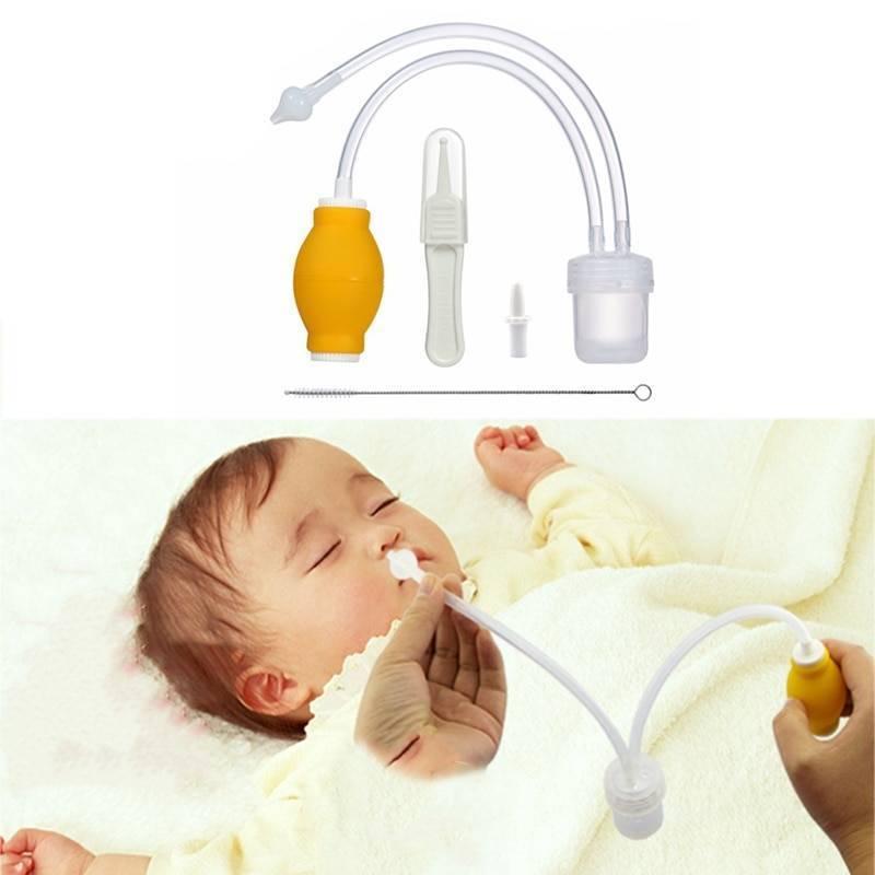 Как почистить нос новорожденному от соплей в домашних условиях